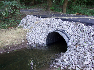 After - New Larger Culvert