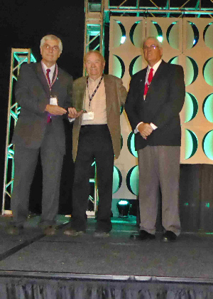 Dick Dryland receiving his award at the American Fisheries Society Annual Meeting on August 24th.